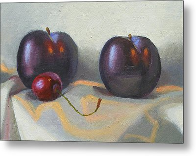 Cherry And Plums Metal Print by Peter Orrock
