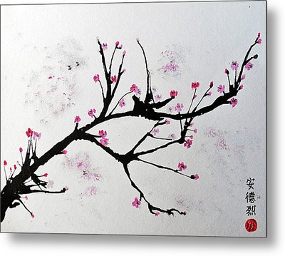 Cherry Blossom  Metal Print by Andrea Realpe
