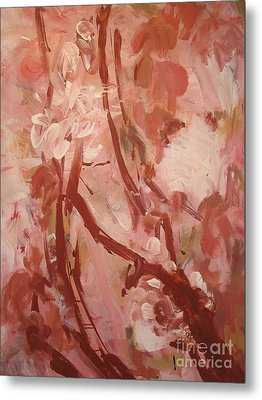Metal Print featuring the painting Cherry Blossom by Fereshteh Stoecklein