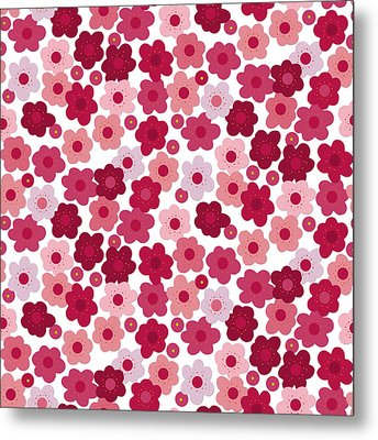 Cherry Blossom Pop Metal Print