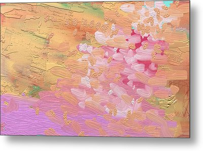 Cherry Blossoms By Pink River Metal Print by Naomi Jacobs
