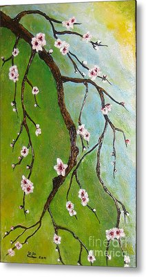 Cherry Blossoms Metal Print by Elena  Constantinescu