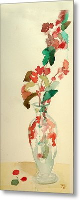 Cherry Blossoms Metal Print by Janet Gunderson