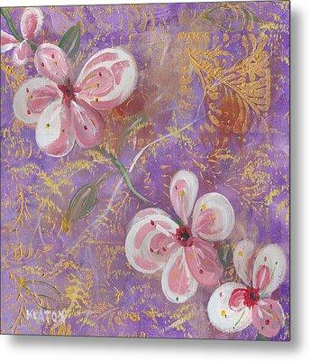 Cherry Blossoms Metal Print by John Keaton