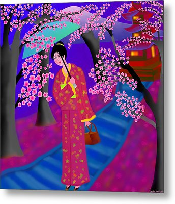 Cherry Blossoms Metal Print by Latha Gokuldas Panicker