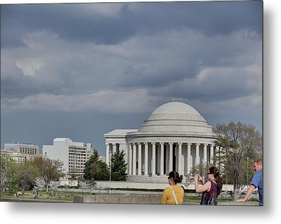 Cherry Blossoms With Jefferson Memorial - Washington Dc - 011341 Metal Print by DC Photographer