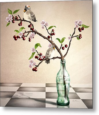 Cherry Coke Metal Print by April Moen