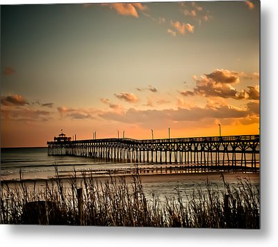 Cherry Grove Pier Myrtle Beach Sc Metal Print