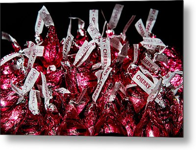 Metal Print featuring the photograph Cherry Kisses by John Hoey