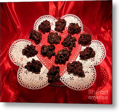 Cherry Pecan Chocolates Metal Print by Judyann Matthews