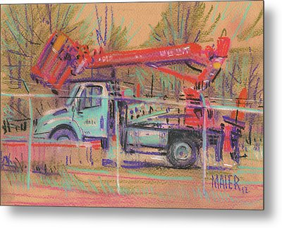 Cherry Picker Metal Print by Donald Maier