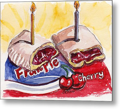 Metal Print featuring the painting Cherry Pie Indulgence by Julie Maas
