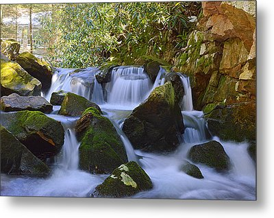 Cherry Run Cascades #1 - Bald Eagle State Forest Metal Print