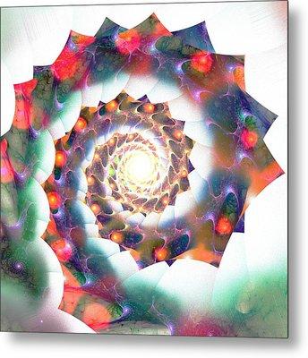 Cherry Swirl Metal Print by Anastasiya Malakhova