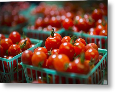 Cherry Tomatoes Metal Print by Caitlyn  Grasso