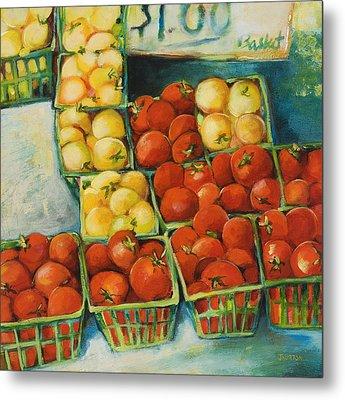 Cherry Tomatoes Metal Print by Jen Norton