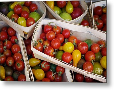 Cherry Tomatos Metal Print by Carlos Caetano