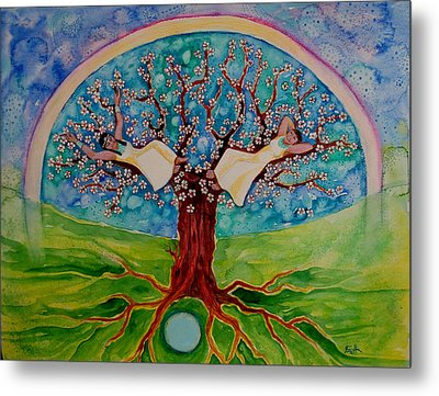 Cherry Tree Dreaming Metal Print