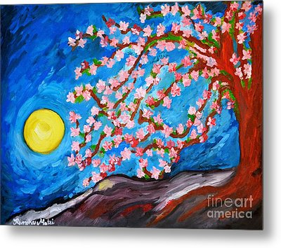 Cherry Tree In Blossom  Metal Print