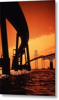 Chesapeake Bay Bridge Metal Print