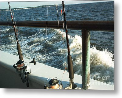 Metal Print featuring the photograph Chesapeake Bay Fishing by Emmy Marie Vickers