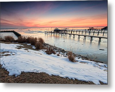 Metal Print featuring the photograph Chesapeake Bay Freeze by Jennifer Casey