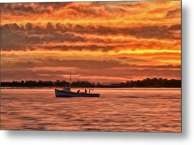 Chesapeake Watermen Metal Print by Michael Pickett