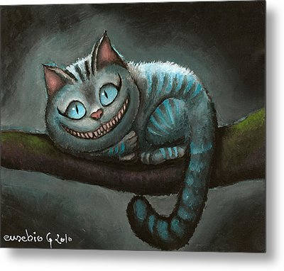 Cheshire Cat Metal Print by Eusebio Guerra