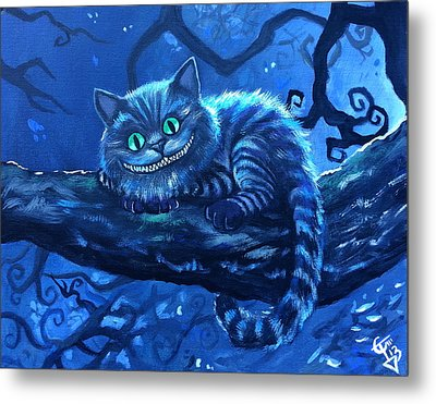 Cheshire Cat Metal Print by Tom Carlton