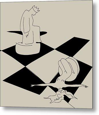Chess And Art Metal Print by Frida Kaas
