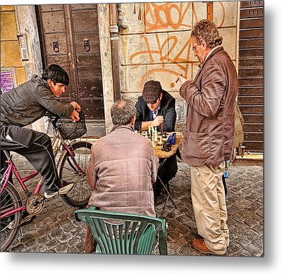 Chess Game Metal Print