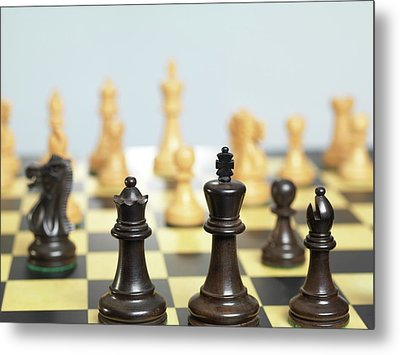 Chess Match Metal Print