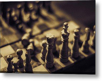 Chessmaster Metal Print by Diaae Bakri