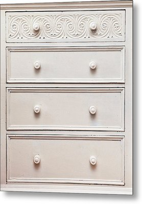Chest Of Drawers Metal Print by Tom Gowanlock