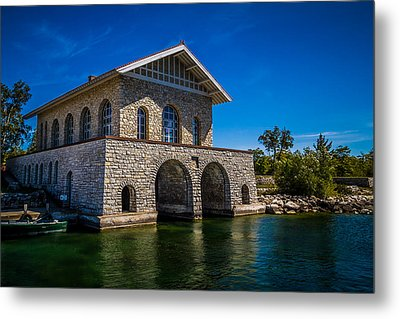 Chester Thordarson Boathouse  Metal Print