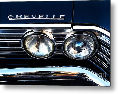 Chevelle Headlight Metal Print by Jerry Fornarotto