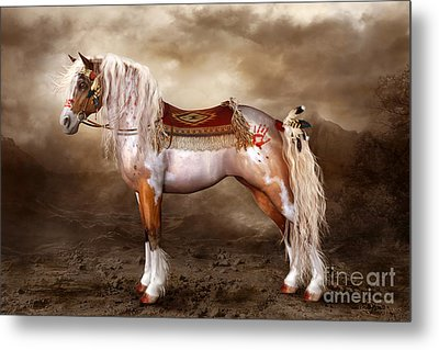 Cheveyo Native American Spirit Horse Metal Print by Shanina Conway