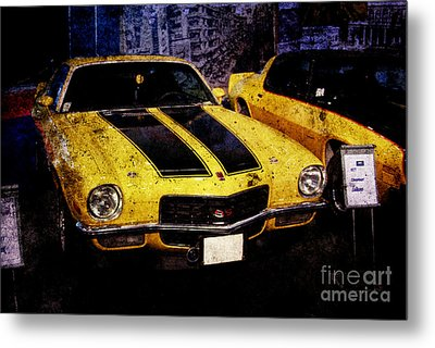 Metal Print featuring the photograph Chevrolet Camaro by Mohamed Elkhamisy
