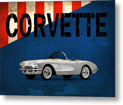 Chevrolet Corvette 1958 Metal Print