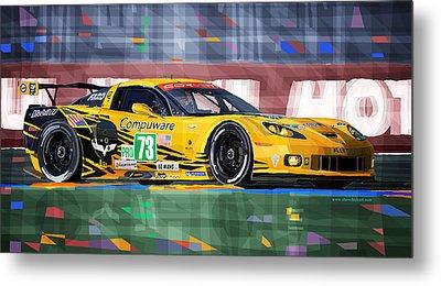 Chevrolet Corvette C6r Gte Pro Le Mans 24 2012 Metal Print by Yuriy  Shevchuk