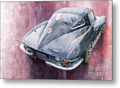 Chevrolet Corvette Sting Ray 1965 Metal Print by Yuriy  Shevchuk