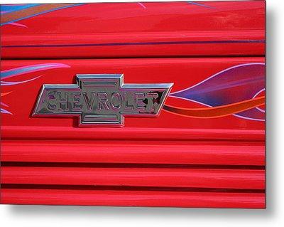 Chevrolet Emblem Metal Print by Carol Leigh