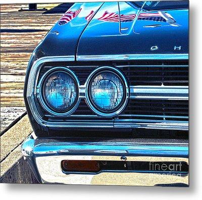 Chevrolet In American Town Metal Print by Sebastian Mathews Szewczyk