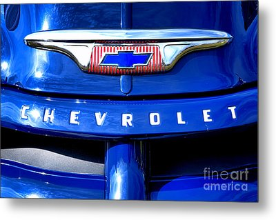 Chevrolet Pickup Hood Ornament Metal Print by Olivier Le Queinec