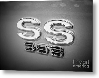 Chevrolet Ss 396 Emblem Metal Print by Paul Velgos