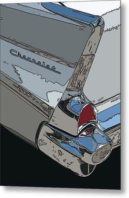 Chevrolet Tail Fin Metal Print by Samuel Sheats