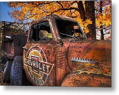 Chevrolet Usa Metal Print by Debra and Dave Vanderlaan