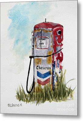 Chevron Metal Print by Sandy Linden