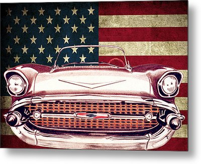 Chevy Bel Air 57 Metal Print by Diego Abelenda