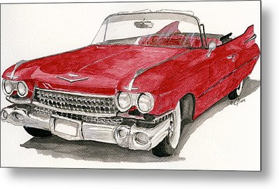Metal Print featuring the painting  'caddy'-59 by Eva Ason